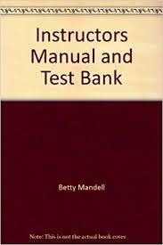 Instructors Manual and Test Bank: Amazon.co.uk: Betty Mandell ...