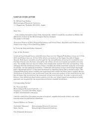Cover Letter For Editor Popular Cover Letter To Journal Editor