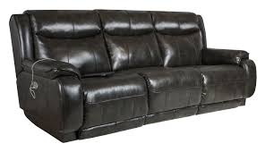 Southern Motion Velocity Double Reclining Sofa with Power Headrest