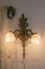 french lighting designers. Brass Ormolu Wall Sconce With Rose Shades. French Lighting Designers O