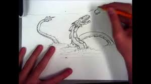 sea serpent drawings. Delighful Sea With Sea Serpent Drawings D