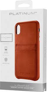 platinum leather wallet case for apple iphone xs max papaya pt maxlsblcp best