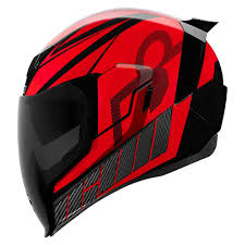 Icon Airflite Qb1 Red Helmet