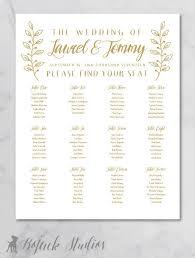 Wedding Seating Chart Poster Printable Seating Chart
