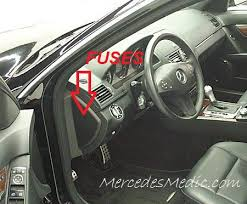 c class w204 2008 2014 fuse list chart box location w204 dash