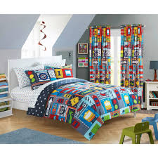mainstays kids busy car transportation bed in a bag bedding set com