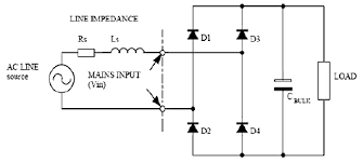 schematic diagram of a single phase diode rectifier schematic diagram of a single phase diode rectifier capacitor filter circuit