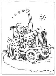 Kleurplaat Tractor Tô Màu Cho Otto Coloring Pages Cartoon En Color