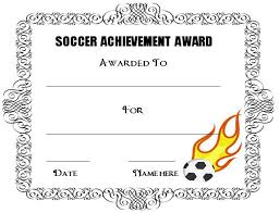 award certificates template 30 soccer award certificate templates free to download print
