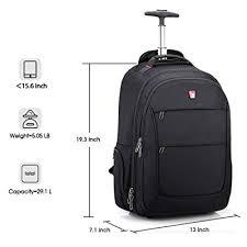 Buy <b>OIWAS</b> Rolling <b>Backpack</b> for Laptop Large Wheeled <b>School</b> ...