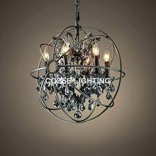 orb pendant light free vintage crystal chandelier extraordinary restoration hardware smoke