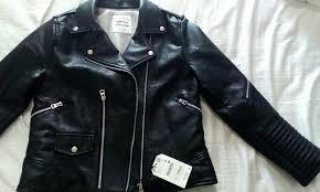 zara trafaluc leather biker jacket women s fashion clothes outerwear on carou