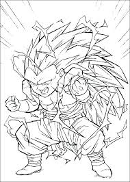 dragon ball z coloring pages goten free super col