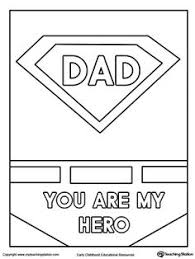 Small Picture Fathers Day Card Superhero Outfit Worksheets Superhero and Dads