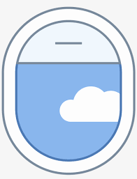 Airplane Window Open Icon Line Transparent Png 1600x1600 Free