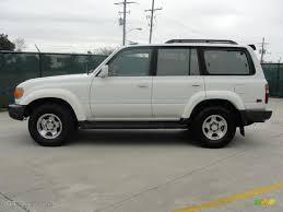 White 1997 Toyota Land Cruiser Standard Land Cruiser Model ...