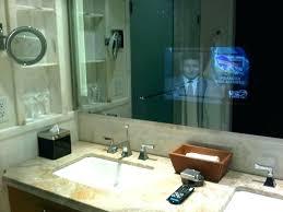in mirror tv in the mirror bathroom a is behind the master bath s vanity in mirror tv