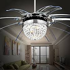 ceiling fan chandelier. rs lighting modern fashion 42-inch blades ceiling fan with led lights transparent 8- chandelier