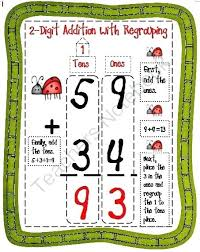 Digit Addition With Regrouping 2 Digit Addition With