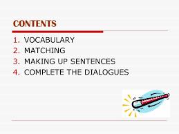 at the doctor s Курсовая работа учителя английского языка ФМЛ  matching 3 making up sentences 4 complete the dialogues
