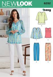 Tunic Top Patterns Adorable Misses Tunic Or Top And Pullon Trousers New Look Pattern No 48