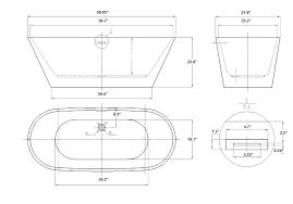 freestanding bathtub dimensions ideas