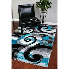 Black and turquoise rug Brown Turquoise Area Persian Rugs Modern Trendz Abstract Turquoisegreywhiteblack Area Rug 5 Overstock Shop Persian Rugs Modern Trendz Abstract Turquoisegreywhiteblack