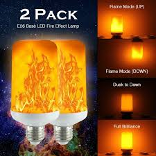 Light Bulbs That Look Like Fire Details About 2 Pack Led Flame Effect Simulated Nature Fire Light Bulb E27 5w Decoration Lamp