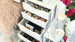 feature makeup organizers and storage ideas for makeup junkies