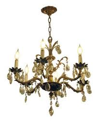 salvaged waldorf petite spanish chandelier with crystals
