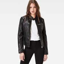 g star raw mower slim leather jacket women black t63p9297 g star quilted jacket g star new york newest