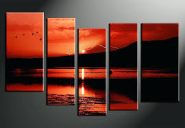 5 panel canvas art 5 piece canvas print home decor artwork ocean photo canvas landscape canvas 5 panel canvas art