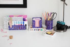 desk accessories for women purple.  Accessories Purple Desk Organizer For Women  3 Piece Accessories Set  LetterMail Throughout For Blu Monaco