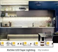 kichler led kitchen lighting. kichler interior dry location led tape lighting led kitchen h