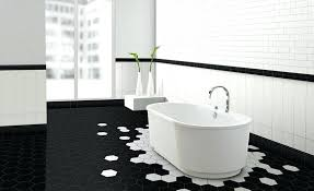 black and white hexagon tile hex bathroom patterns