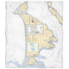 Island Girl Ma Marthas Vineyard Ma Nautical Chart Fleece