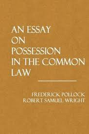 Common Law Essay Bol Com An Essay On Possession In The Common Law 9781495286858