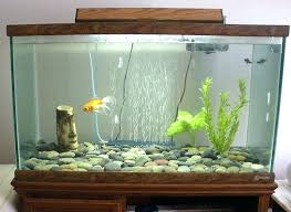 wooden fish decoration tank decorations with frame and glass panels