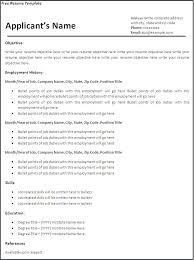 Basic Cv Templates Microsoft Word Resume Blank Free Template