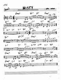 Round Midnight Chart Jazz Standard Realbook Chart Misty Saxophone Sheet Music