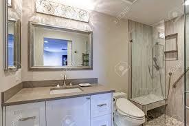 modern bathroom taupe countertop bathroom contemporary bathroom design boasts white bathroom cabi with