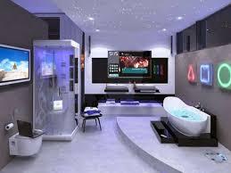 custom bathroom lighting. Amazing-sci-fi-bathroom-design-with-high-end- Custom Bathroom Lighting