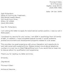 Social Work Cover Letter Example Social Work Cover Letter Example