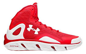 under armour shoes red and white. under armour spine bionic basketball shoes, red/white, 14 shoes red and white m