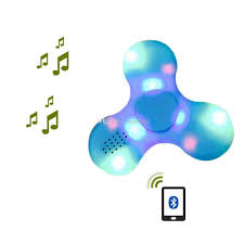 Fidget Spinner With Bluetooth Speaker And Lights Colorful Led Light Fidget Bluetooth Spinners Fidget Spinner With Good Quality Bluetooth4 0 Speaker For Mini Bluetooth Speaker Physics Spinning Top Top