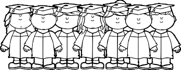 Kindergarten Graduation Coloring Pages Graduation Black And White Clipart Collection