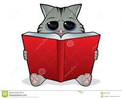 royalty free stock photo book reading cat stock vector ilration of drawing 23591383