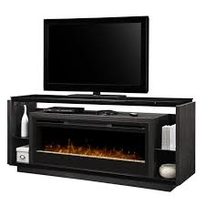 dimplex david glass ember bed electric fireplace tv stand in smoke gds50g3 1592sm