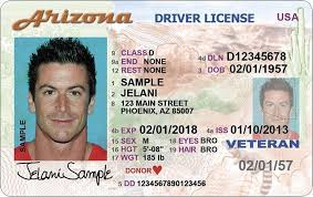 License Real Drivers Arizona Card Id Vs