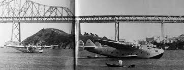 a march 1939 photo by gordon williams of 2 pan am china clippers a martin a boeing moored at treasure island courtesy of kevin walsh